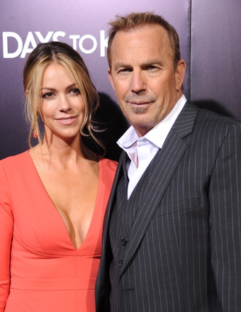 Kevin Costner Gushes Over Wife at '3 Days to Kill' Premiere