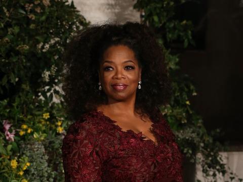 Video! Oprah Winfrey Sews Herself Into Her BAFTA Gown