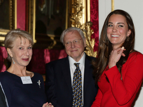 Kate Middleton Jokes with 'Granny' Helen Mirren at Royal Event