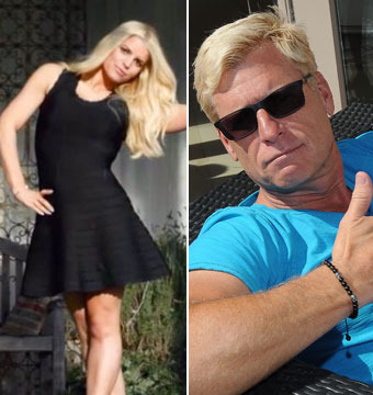 Jessica Simpson Flaunts New Figure, Dad Snaps Pix with Half-Naked Male Friend