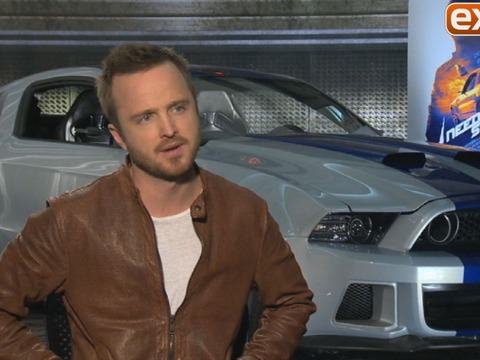 Aaron Paul Talks 'Need for Speed': Cars, Stunts, and Kissing Scenes