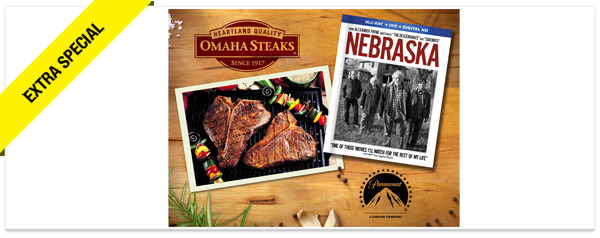 Win It! 'Nebraska' on Blu-ray, and $50 Gift Certificate to Omaha Steaks