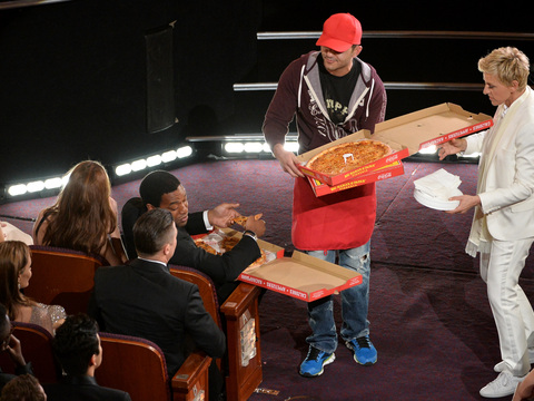 Who's the Guy Who Delivered Pizza to the Oscars?