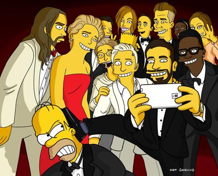 'The Simpsons' Spoof Ellen's Star-Studded Oscars Selfie