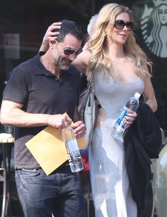 Brandi Glanville and ex-husband Darin Harvey were spotted leaving Fabrocini's restaurant in Bel-Air.