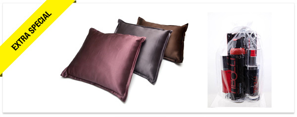 Win It! Manito Linens Silk Pillow, Tibolli Hair Care Set from Indie Spirit Awards Gift Lounge