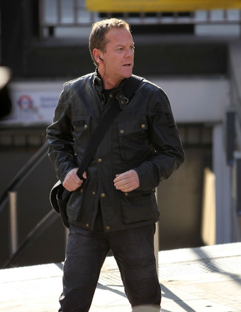 "Keifer Sutherland was snapped on the London set of ""24: Live Another Day."""