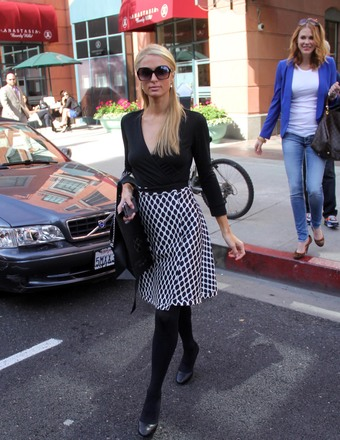 Paris Hilton was spotted shopping in Beverly Hills.