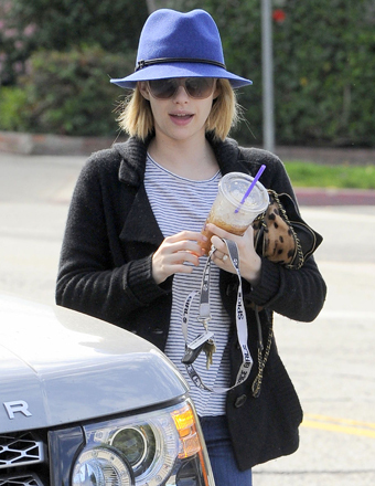 Emma Roberts ran errands in West Hollywood on Monday.