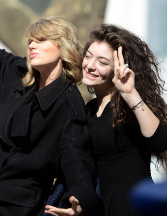 BFFs Taylor Swift and Lorde were spotted goofing around in NYC.