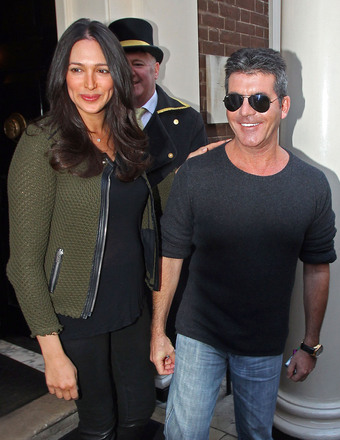 Simon Cowell and Lauren Silverman were seen in London at
