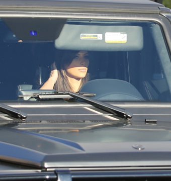 Kim Kardashian in Beverly Hills Fender-Bender