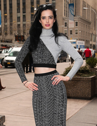"Krysten Ritter stopped by Sirius XM Radio to promote the upcoming ""Veronica Mars"" movie in New York."