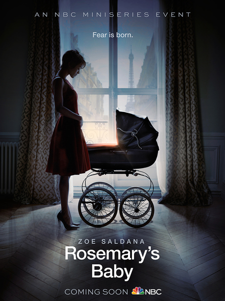 First Look! Zoe Saldana and Creepy Baby Carriage in 'Rosemary's Baby'