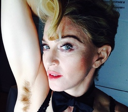 Madonna Pic! Armpit Hair, 'Don't Care'