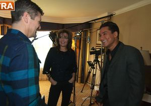 'Extra' Raw! Mario Lopez with Sarah and Todd Palin