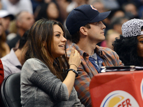 Bump Watch! Mila Kunis and Ashton Kutcher Attend L.A. Clippers Game