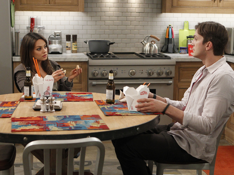 First Look! Mila Kunis and Ashton Kutcher Are Adorable in 'Two and a Half Men'