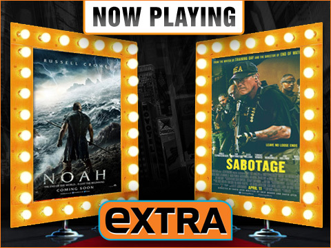 Now Playing Live Movie Reviews: 'Noah' vs 'Sabotage'