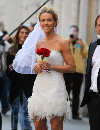 Kate Gosselin Models Skimpy Wedding Dress in NYC