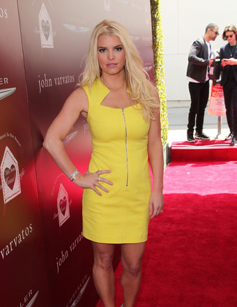 Pic! Jessica Simpson Looks Slim and Sexy in Little Yellow Dress