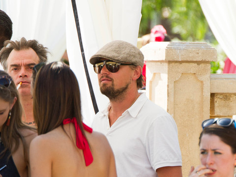 Leonardo DiCaprio and Celebs Party Poolside During Coachella's Opening Weekend