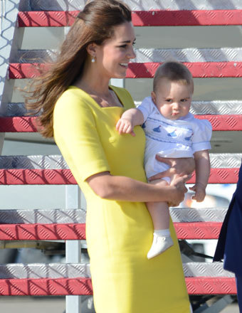 Kate Middleton, Prince William and baby George arrived to much fanfare in Sydney.