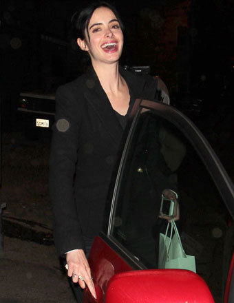 Krysten Ritter stopped by the vegan restaurant Crossroads in Hollywood for dinner on Tuesday.