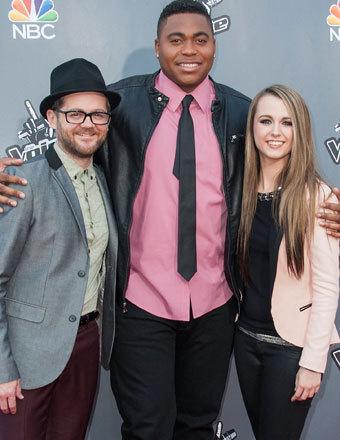 "Josh Kaufman, T.J. Wilkins and Bria Kelly celebrated ""The Voice"" Top 12 with a live concert at Universal Studios Hollywood."