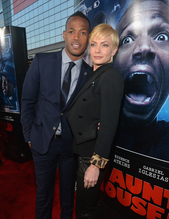 "Marlon Wayans and Jaime Pressley hit the red carpet at the ""Haunted House 2"" premiere in L.A."