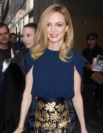 "Heather Graham visited NBC Studios for an appearance on the ""Today Show"" on Thursday."