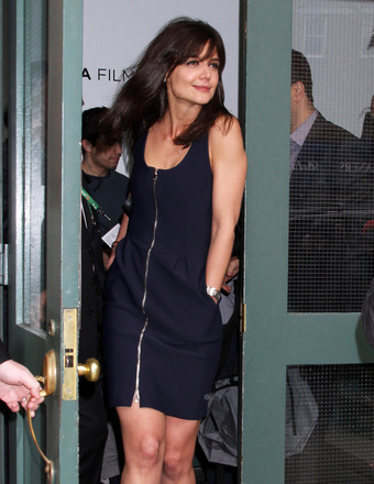 Katie Holmes was spotted on the go in NYC on Thursday.