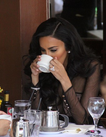 """Shahs of Sunset"" star Lilly Ghalichi enjoyed a cup of coffee in Beverly Hills."