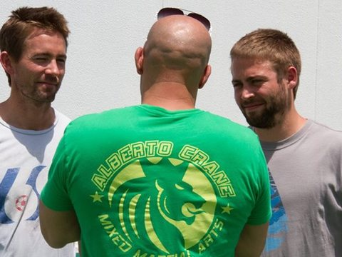 'Fast & Furious 7': Vin Diesel Shares Moment with Paul Walker's Brothers on Set