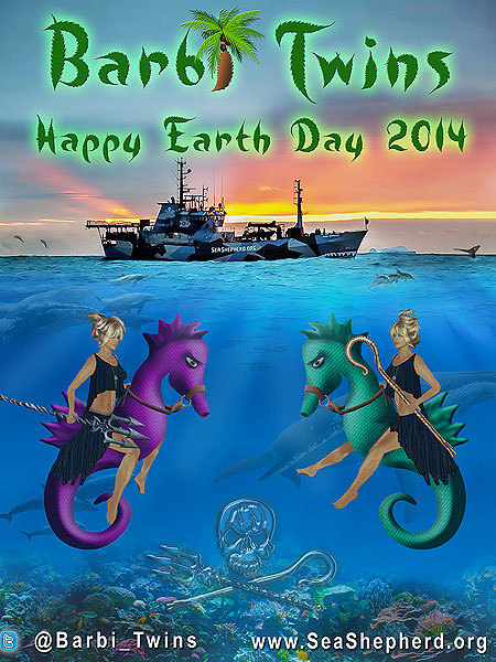 Happy Earth Day from the Barbi Twins!