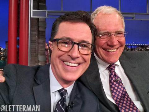 Video! Stephen Colbert Tells Letterman, 'I'm Going to Do Whatever You Have Done'