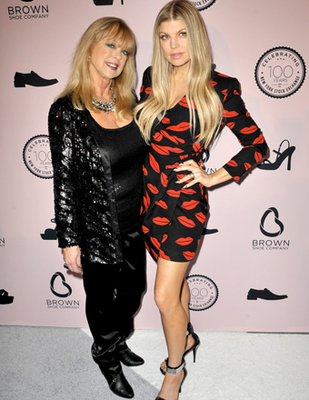 Terri Ferguson and daughter Fergie attended a Brown Shoe Company celebration in NYC.