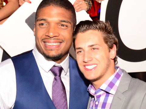 NFL Draft Pick Michael Sam Celebrates with BF in Las Vegas