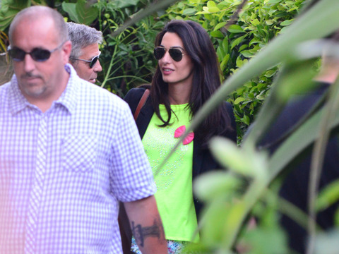 George Clooney and Amal Alamuddin Celebrate Engagement at Malibu Party