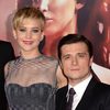 New Pics! Jennifer Lawrence and Josh Hutcherson Kiss on Set of 'Hunger Games' Sequel