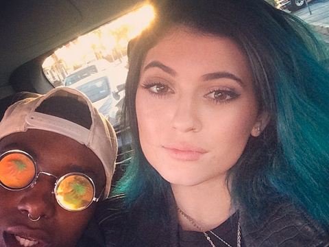 Kylie Jenner Debuts Blue Hairdo, Kendall Goes Glam at Cannes