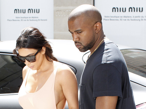 Braless and Flawless! Kim Kardashian Flashes Side Boob in Paris
