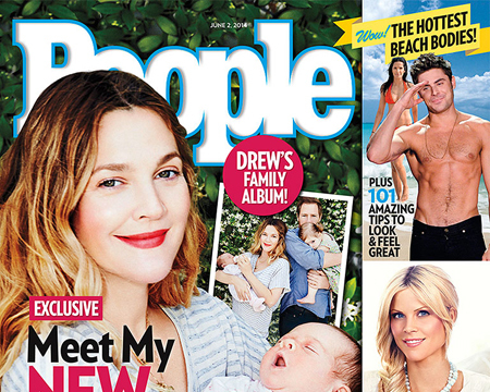 First Pic! Drew Barrymore's Baby Girl, Frankie