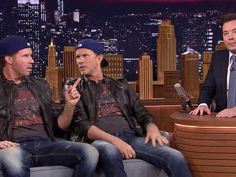Video! Will Ferrell in a Drum-Off with His Rocker Twin