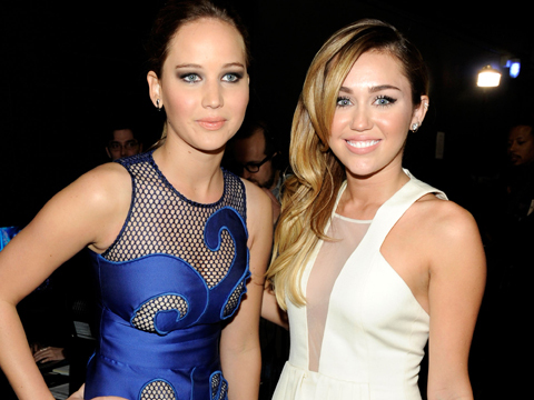 Miley Hits Back at Jennifer Lawrence's Puking Story