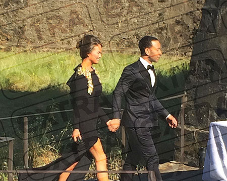 First Pics! Guests Arriving to Kim and Kanye's Wedding