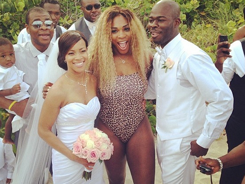 Serena Williams Crashes Miami Wedding in a Leopard-Print Swimsuit!