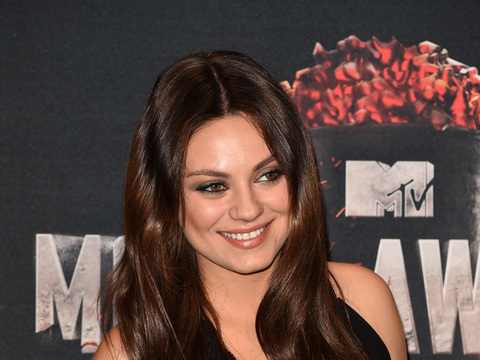 New Pic! Mila Kunis Shows Off Growing Baby Bump