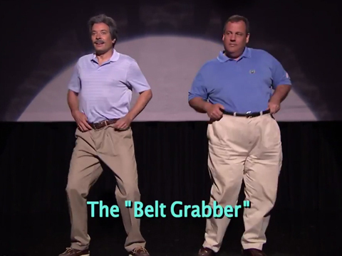 See Jimmy Fallon and Gov. Chris Christie's Hilarious 'Evolution of Dad Dancing'!