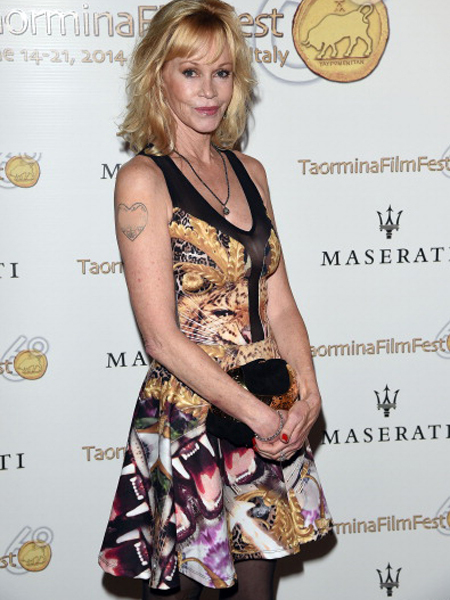 Look What Melanie Griffith Did to Her 'Antonio' Tattoo!
